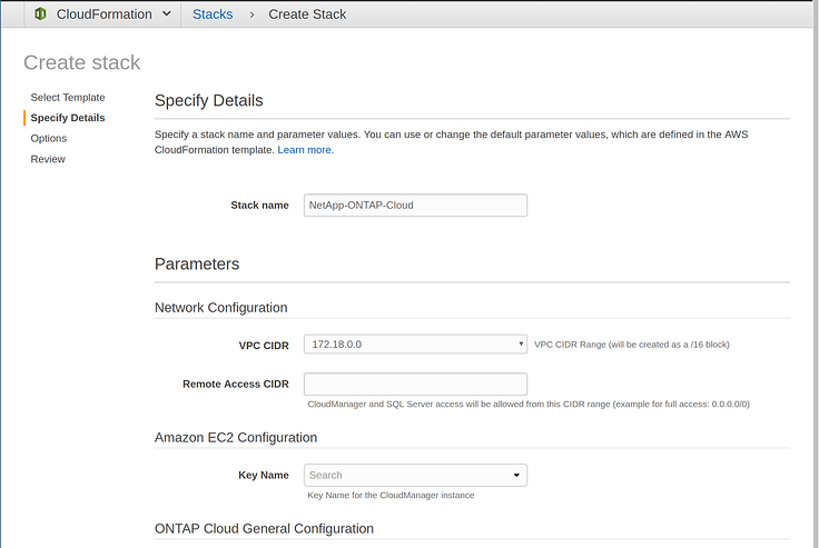 AWS Quick Starts for ONTAP Cloud