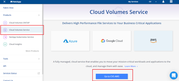 Cloud volumes service