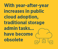 The Storage Administrator Role Is Evolving: Meet the Cloud Administrator migration data storage configuration firmware upgrade big data cloud disaster recover solution