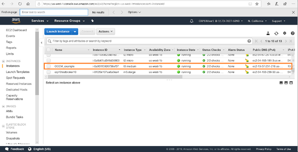 View the Cloud Manager deployed in AWS console