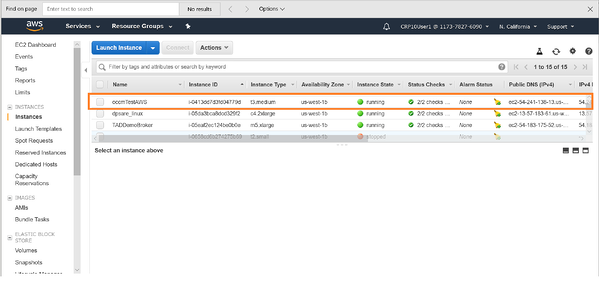 See the Cloud Manager instance being provisioned in the AWS console