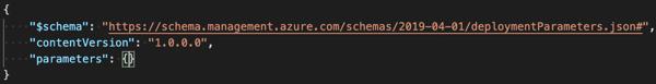 Open azuredeploy.parameters.json