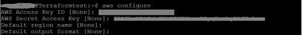 @Terraformtest: ~s aws configure