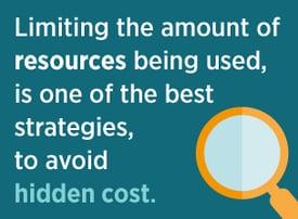 Strategies to avoid hidden costs