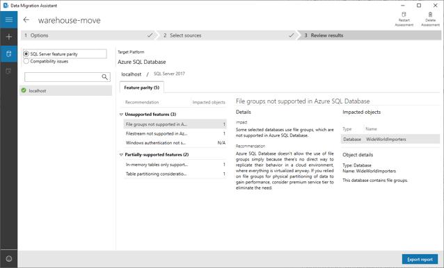 Assess the on-premises database