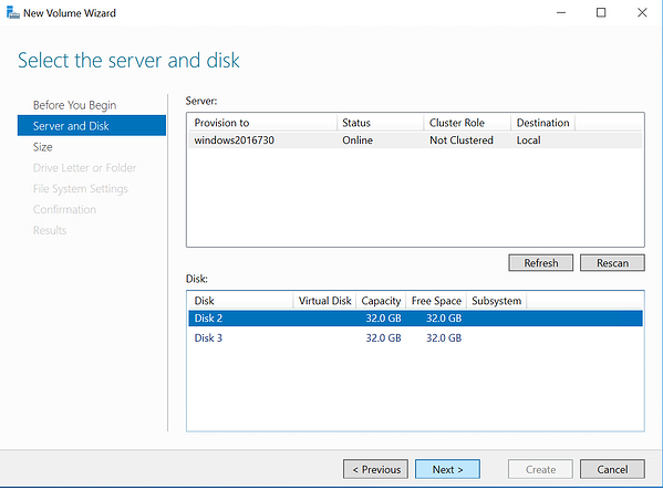 Select disk to be mounted