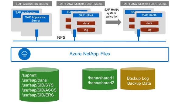 Shared files in SAP deployments using ANF