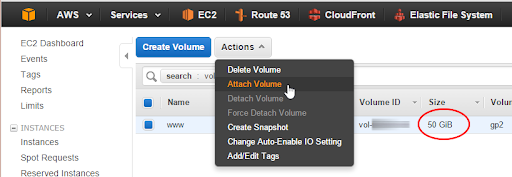 Attaching an EBS Volume to an EC2 Instance