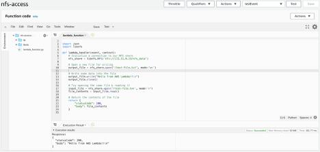 Running the AWS Lambda Function