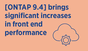 Cloud Volumes ONTAP increases front end performance