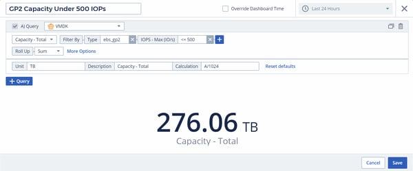 GP2 Capacity Under 500 IOPs