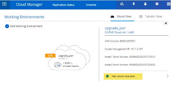 NetApp Cloud Manager Screenshot