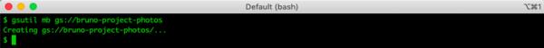 Create a GCP Bucket using gsutil
