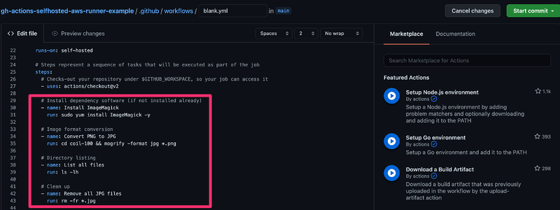 New GitHub Actions Workflow