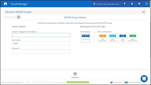 ONTAP cluster details