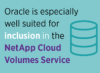 Oracle well suited for inclusion in NetApp Cloud Volumes services