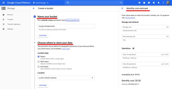 Google Storage service