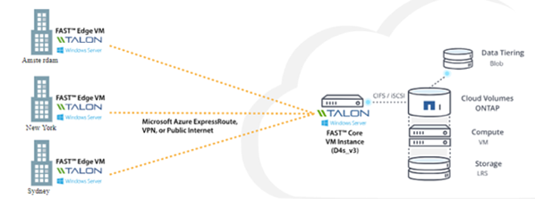 Figure 1: The Talon FAST - NetApp Cloud Volumes ONTAP Solution