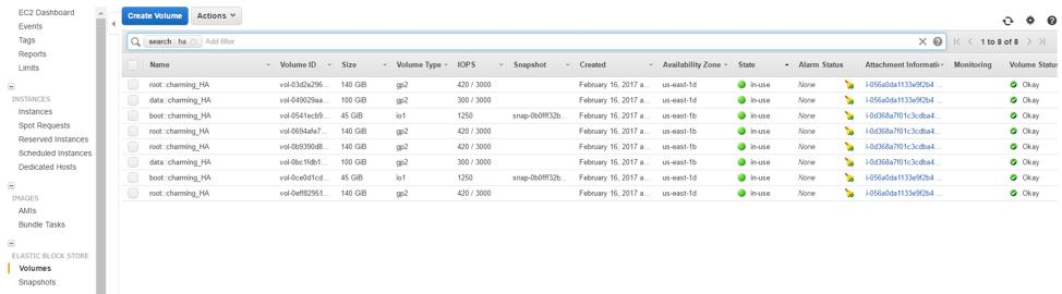 Amazon EBS Volumes