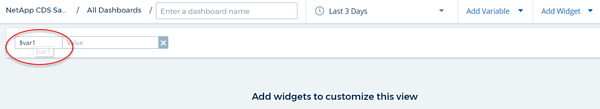 Cloud insights custom dashboard