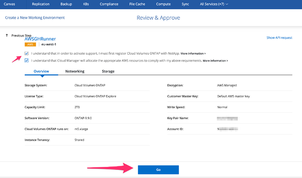 Review and Approve Panel in Cloud Manager