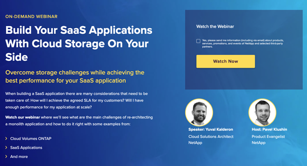 On-Demand webinar - Build Your SaaS Applications with Cloud Storage On Your Side