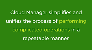 NetApp Cloud Manager simplifies the process of performing complicated operations