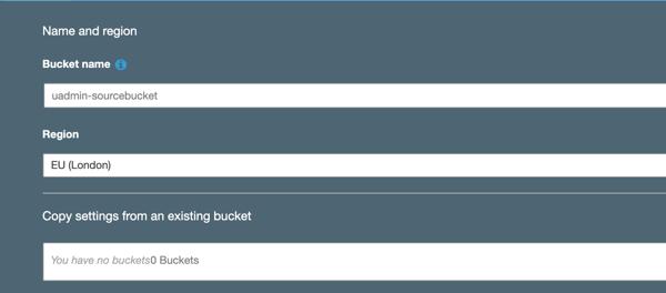 unique s3 bucket name