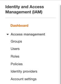 identity dashboard