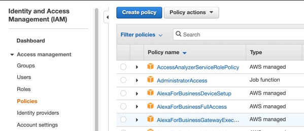 create policy