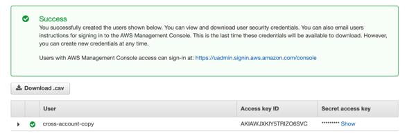access key ID