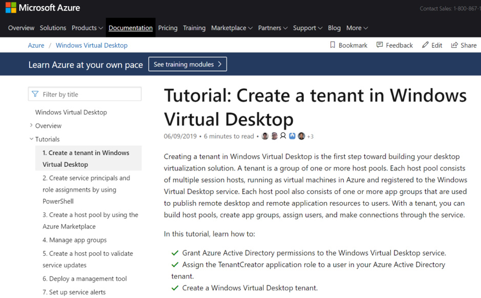 Tutorial: Create a tenant in Windows Virtual Desktop