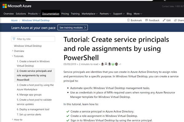 Tutorial: Create service principals and role assignments by using PowerShell