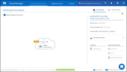 cloud manager production cv ontap_netapp