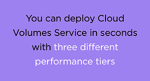 cloud volumes service deployment in seconds