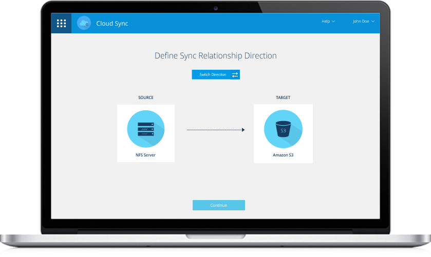 Data Migration with Cloud Sync