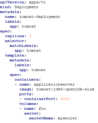 Kubernetes Deployment Description File Example
