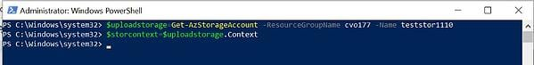 Update the <resource group name> and <storage account name> values