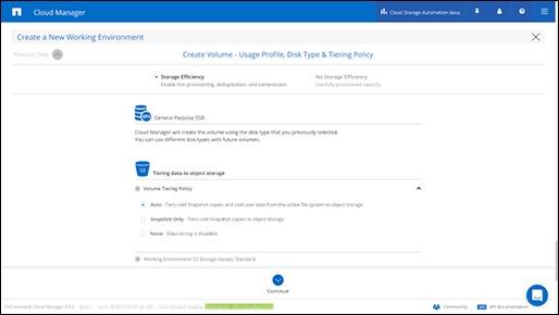 create volume usage profile, disk type_netapp