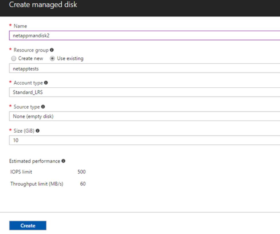 creating managed disks