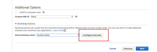 Additional Options - Configure and add