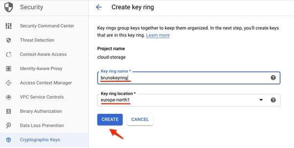 Key ring creation process