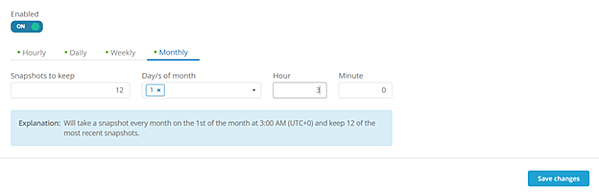 In this example, we are going to add a monthly Snapshot policy, because a policy was not set during provisioning.