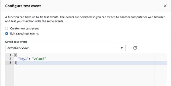 AWS Lambda Integration with Cloud Volumes Service APIs