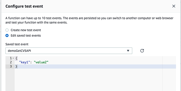 Configuration test event