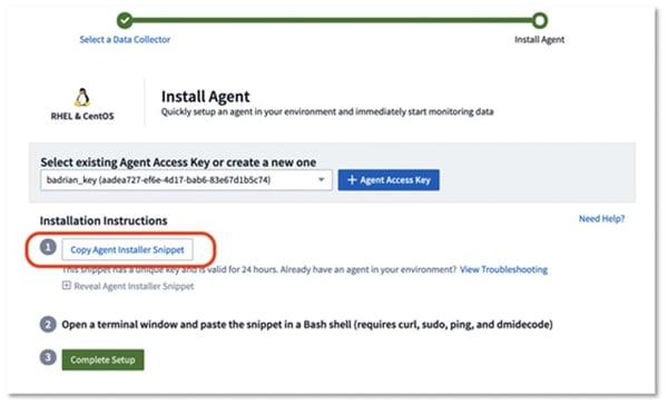 CentOS Installer - Copy Agent Installer Snipper