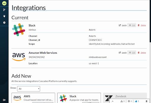 Current integrations