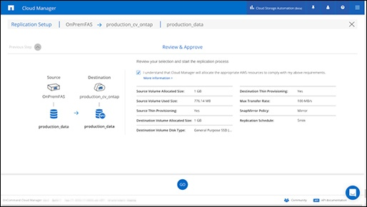 review and approve cloud manager
