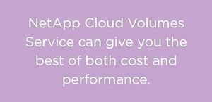 Cloud Volumes Service gives you both cost and performance