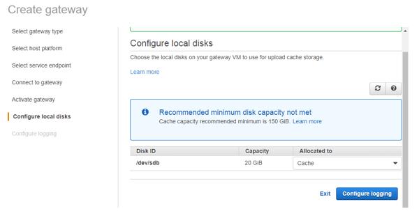 configure local disk
